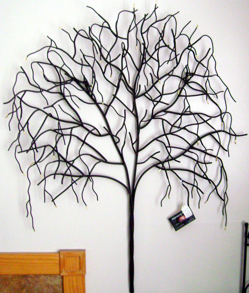 Large Metal Tree Wall Hanging Adorning Metal